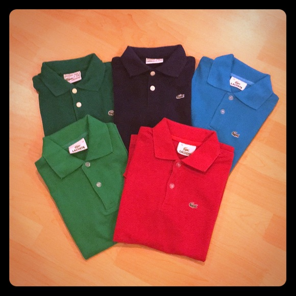 69ab36e68f9089 ... Polo Shirts with crocodile patch EUC. M 5b197691d6dc52dff37b222b